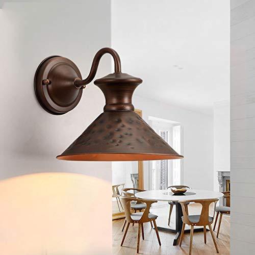 Neue kreative Wandleuchte, Dachboden-Kunst-Wand-Lampen-Retro American Country Treppe Wand Sconce Aisle Hotel-Schlafzimmer Cafe Nachtlicht Schmiedeeisen Wandleuchte, B-Art