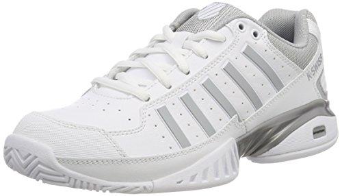Iv-weiß Schuhe (K-Swiss Performance Damen Receiver Iv Tennisschuhe, Weiß (White/Highrise 107-M), 42 EU)