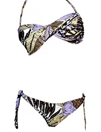 Maillot de bain femme 2 pièces bikini Bandeau multicolore
