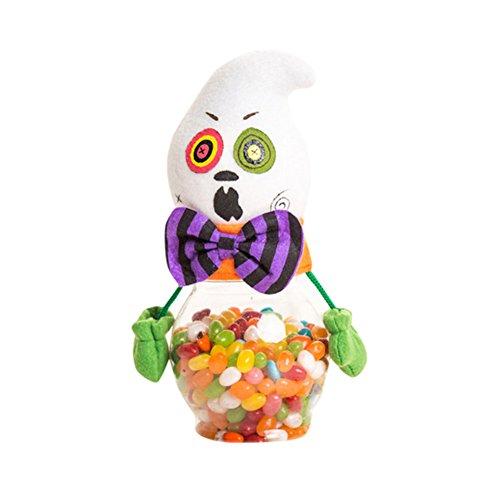 kanggest Halloween Süßigkeiten und Snacks Vorratsglas, Vorratsglas kreatives Süßes sonst gibt's Saures Geist Toy Doll für Storage Candy Cookie und Halloween-Dekoration