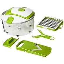 Genius Salad Chef Smart–Herramienta para cortar, rebanar y pelar frutas y verduras -