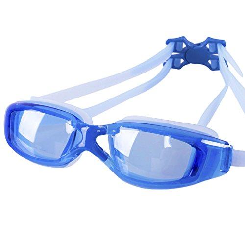 CHENGYANG Schwimmbrille Erwachsene Anti Fog Ohne Leakage deutlich Anblick UV Schutz Einfach, Bequem für Mann und Frau Blau # 2