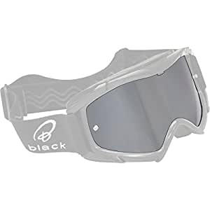 5090-1000 - Black Rock Motocross Goggle Lens Silver/Mirror