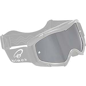 5090-1000 - Black Rock Motocross Goggle Lens Silver/Mirror