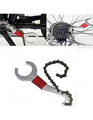 1pcs 3en 1Bicycle cadena látigo piñones eje de pedalier BB llave herramienta