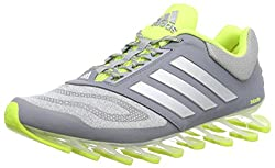 adidas Performance Herren Springblade Drive 2.0 Laufschuhe, Grau (Grey/Silver Met./Solar Yellow), 45 1/3 EU