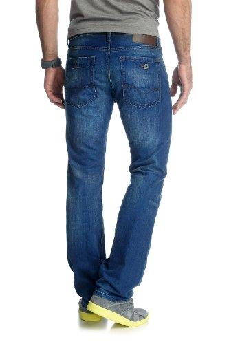 ESPRIT - Jean - Coupe Droite - Homme Bleu (419 Oily Bright Blue)