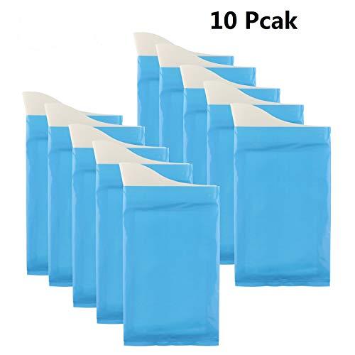 Einweg Urin Taschen Camping Reise Urinal Toilette Super Saugfähigen Stau Notfall Urinal Taschen Pee Taschen für Reise Auto Wc für Männer Frauen Kinder Kurze Relief, 10 Stücke -