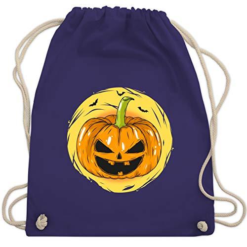 Halloween - Halloween Kürbis Gesicht - Unisize - Lila - WM110 - Turnbeutel & Gym ()
