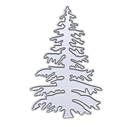 (Hergon  Weihnachtsbaum Stanzschablone Scrapbooking, Metal Stanzformen Schablone DIY Scrapbooking Prägeschablonen Album Papier Karte Handwerk)