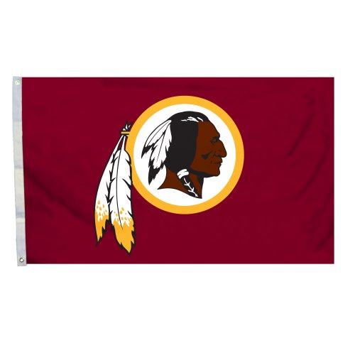 NFL Logo Flagge mit Tüllen, 3 x 5-foot, Washington Redskins
