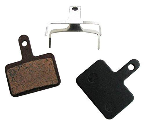 Coppia pastiglie freni bici Alligator per Deore idraulico e Nexave meccanico, misure: 4x35x31mm. con molle incluse