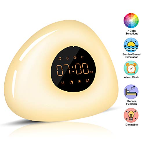Elfeland Wake Up Light Despertador Luz Noche Radio