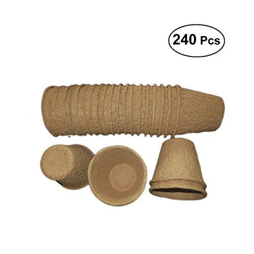 OUNONA Samen-Starter-Topf-Sämlings-Behälter-Biodegradable und organische Töpfe Eco-Friendly Sämling-Keimling-Platten der Samen-240pcs