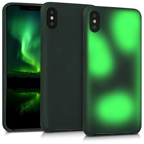kwmobile Apple iPhone XS Max Hülle - Handyhülle für Apple iPhone XS Max - Handy Case in Schwarz Grün