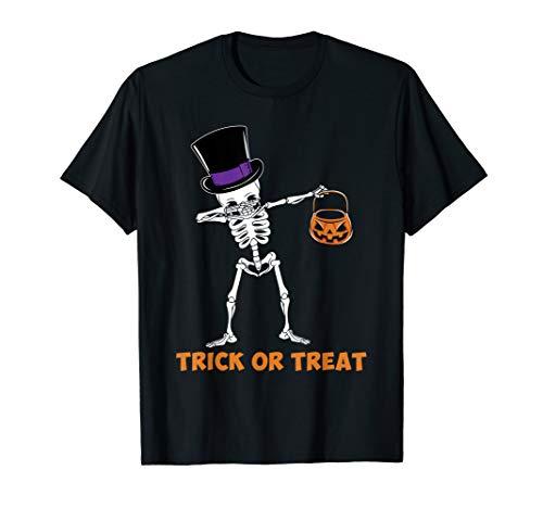 Oder Trick Kostüm Behandeln - Dabbing Skelett Trick Oder Behandeln Kürbis Halloween Hemd