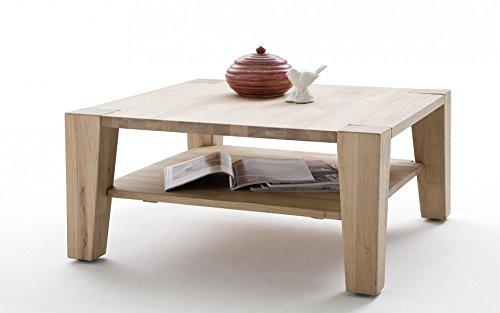 Baidani Designer Couchtisch Tanea - Eiche bianco 80x80cm