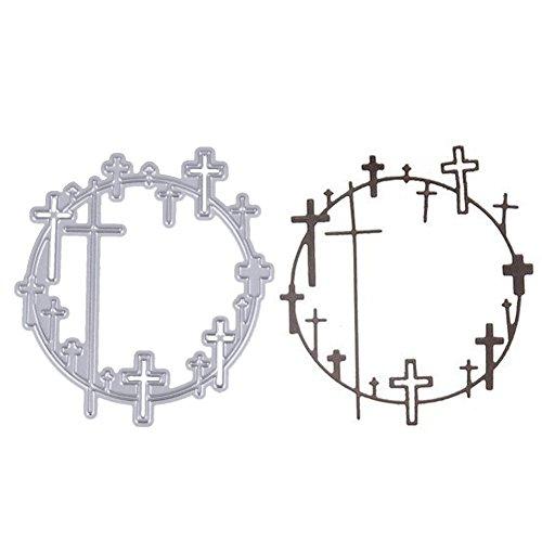 demiawaking Kreuz Kreis Metall Prägung Tools Formen Stahl Messer Form (Kreis Maker)