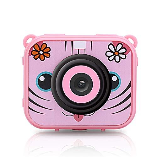 K99 Kinderkamera, Sportkamera 12 Millionen Pixel 1080p Ultra High Definition 2 Zoll LCD-Multifunktionszubehör (Keine Speicherkarte),Pink