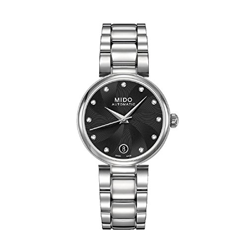 mido-womens-automatic-watch-with-black-dial-analogue-display-stainless-steel-m0222071105610