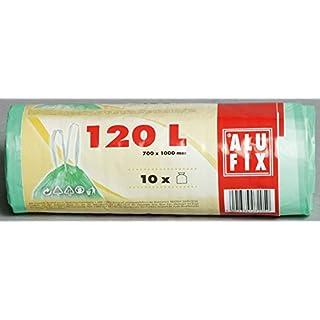 Alufix Tieback Bags 120 Liter, Green - 10 pcs