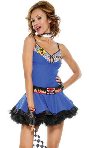 Forplay Mini (Forplay Fast Lane Race rTuTu Mini Dress L/XL)