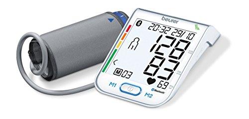 Beurer BM 77 Bluetooth® Blutdruckmessgerät Oberarm weiß | digitales Blutdruck- und Pulsmessgerät inkl. Diagnose App