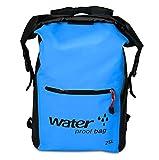 Agua Densidad Pack Saco 25L, fundido Power Sport seco bolsa bolsillos bolsa de hombro Ultralight mayor capacidad mochila, ideal para barco conducción Kayak Pesca rafting nadar nadando camping, azul