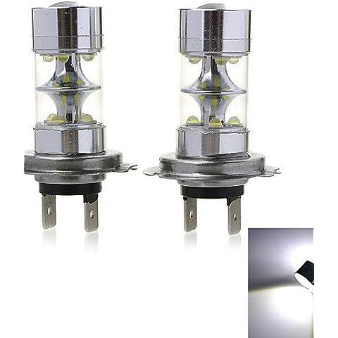 Marsing H7 50W 10- XPE LED Luz antiniebla coche / faro de luz blanca 6500K 2000LM (DC 12~30V / 2pcs), Cool White,DC12V