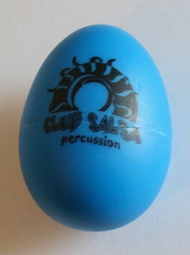 CLUB SALSA Egg Shaker in verschiedenen Farben aus robustem Kunstoff - ein vielfältig einsetzbares Rhythmusinstrument (Shaker-Ei)