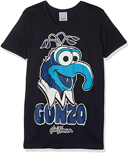 Logoshirt Herren Freizeithemd Muppets - Gonzo, Blau (Navy), -