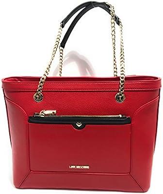 Love Moschino - Bolso al hombro para mujer rojo negro/rojo