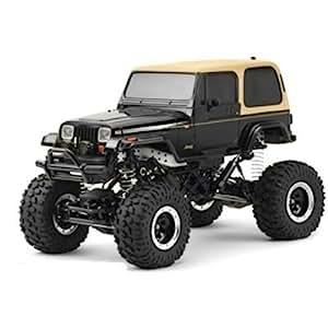 TAMIYA 300058429 - RC Jeep Wrangler, ferngesteuertes Offroad Fahrzeug, 1:10, Elektromotor, Bausatz