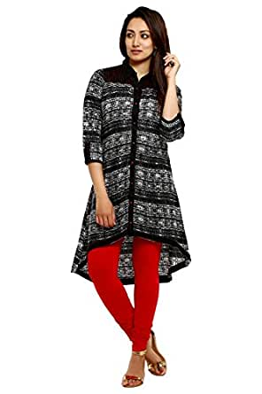 Aaboli Black Cambric Straight Women Long Kurta