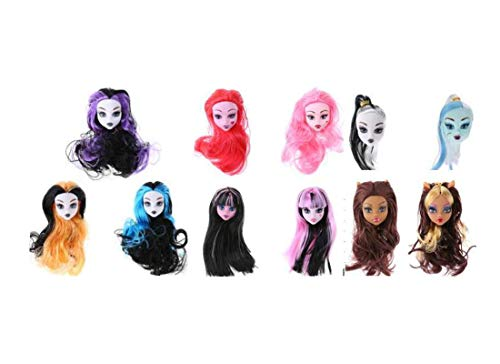 BigForest 5pcs Puppenkopf Sculpt Headsculpt doll Heads Puppe,doll Accessories Heads Nackte Puppenkopf for Monster Toys high doll DIY Heads (Send Random Stlye,Random Color)