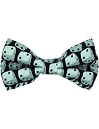 Black & White Dice Novelty Bow Tie