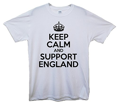 Keep Calm and Support England T-Shirt Weiß