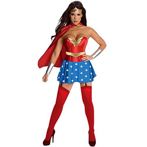 ZSJ~SW Halloween Kostüm Rollenspiel Magic Superwoman Spiel Kostüm Rollenspiel Kostüm für europäische und amerikanische Frauen (Color : Red, Size : XXL) (Kostüm Superwoman Halloween)