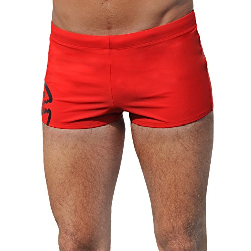 Herren Badehose Shorts, Rot (red), Gr. XXL ()