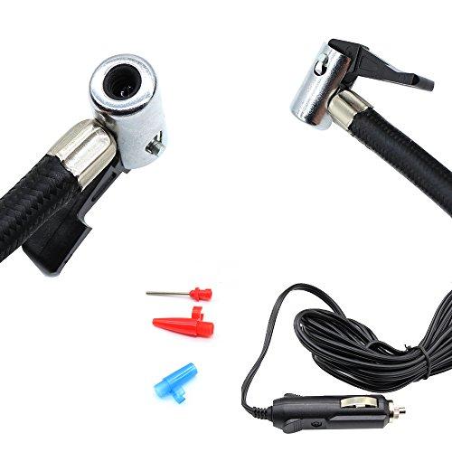 Digitaler Luftkompressor 12V 10A Digitaler Bildschirm Auto Luftpumpe Schnell Air Inflator mit Manometer 150 PSI für Motorrad Fahrrad Basketball - 4