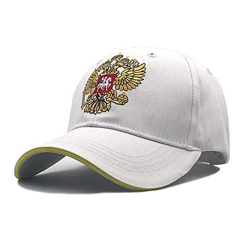 zhuzhuwen Russische Nationale Emblem Baseball Hut Sommer im Freien männliche und weibliche Doppeladler Stickerei Visier Kappe56-62cm