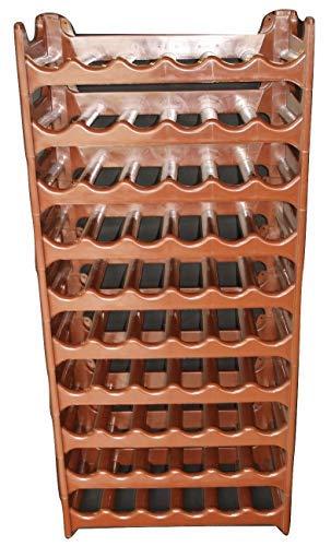 Cave à vin modulable, Étagère à bouteille, Casier à bouteille, Range bouteille, Porte bouteille (60 emplacements de bouteilles, Brun)