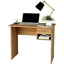 Mesa de estudio de melamina con cajón (varios colores) de 90 cm de ancho