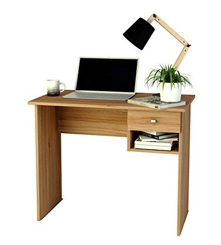 Mesa de estudio de melamina con cajón