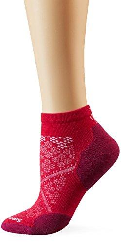 Smartwool Damen PHD Run Light Elite Low Cut Socken, Potion Pink, L - Smartwool Womens Running Light