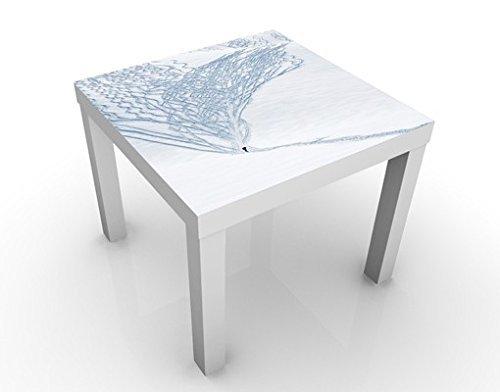 Apalis 46684–277346 Design Table skieurs dans Les Alpes, 55 x 55 x 45 cm, Bunt, 45x55