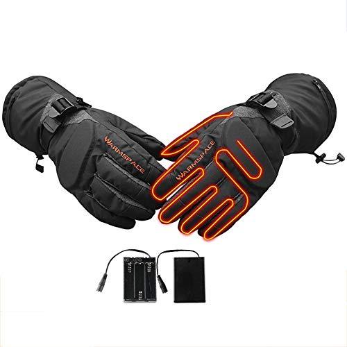 Eventualx - Guanti Termici Invernali riscaldabili per Moto, Ciclismo, Equitazione, Caccia, Nero, XL