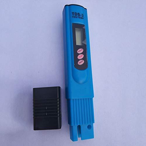 LoveOlvido Tragbare TDS LCD Digital 0-9990ppm Wasserqualität Teststift Härte-Analysator Wasserfilter Reinheitsmonitor Tool - Blau