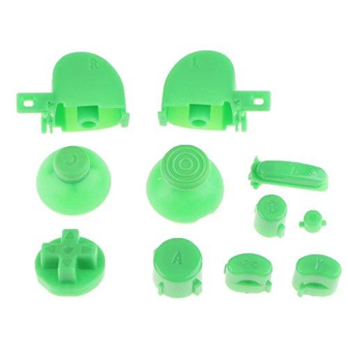 ABXYZ Knöpfe + Daumenstick D-Pad Trigger Full Buttons Mod Set für Nintendo NGC Gamecube Controller, Grün - Mod-button