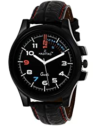 HASHTAG Black Dial Black Strap Analogue Watch for Men